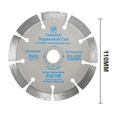 Taparia DBS-4 110mm Segmented Cut Diamond Cutting Blade (Pack of 10)