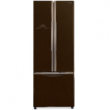 Hitachi R-WB490PND9 -GBW-FBF Inverter Refrigerator 451 L French Bottom Freezer Glass Brown (3 Door)