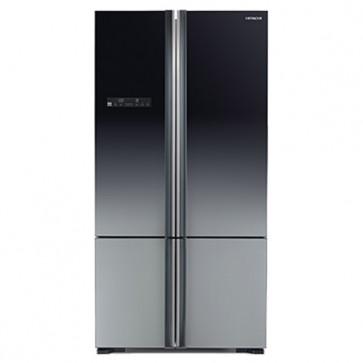 Hitachi R-WB730PND5 - XGR-FBF Inverter Refrigerator 650 L Glass Grey - French Bottom Freezer (Side by Side 4 Door)