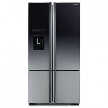 Hitachi R-WB800PND6X - XGR Inverter Refrigerator 697 L Glass Grey - French Bottom Freezer - Water Dispenser (Side by Side 4 Door)