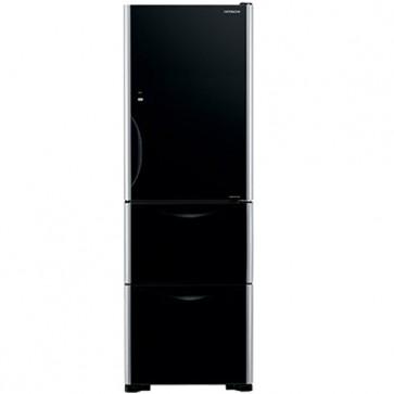 Hitachi R-SG38KPND - GBK Inverter Refrigerator 404 L Glass Black (3 Door)