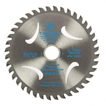 Taparia TCTXL430 110mm Professional Quality TCT Wood Cutting Blade (Pack of 20 blades)