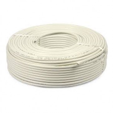 Baba PVC Insulated 1 mm 4 core Copper Wire 45 meter (White)