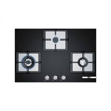 Bosch PPC7S6F20I Built-in Gas Hob 75cm Black Glass (3 Burner)