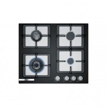 Bosch PPH6S6F20I Built-in Gas Hob 60cm Black Glass (4 Burner)