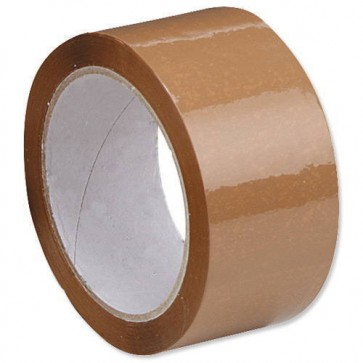 Super 3 inch Brown Packing Tape 100 meter (Pack of 6)