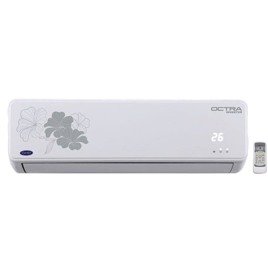 Carrier 1 Ton 5 Star Inverter Octra Split AC white