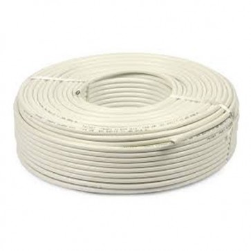 Baba PVC Insulated 3 mm 4 core Copper Wire 45 meter (White)