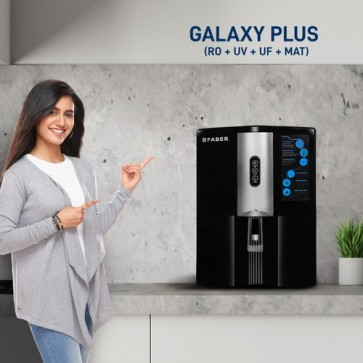 Faber Galaxy Plus (RO+UV+UF+MAT) 8 Stage 9 liters Mineral Water Purifier (Black)