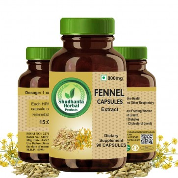 Shudhanta Herbal Fennel capsule 800mg (90 Capsules)