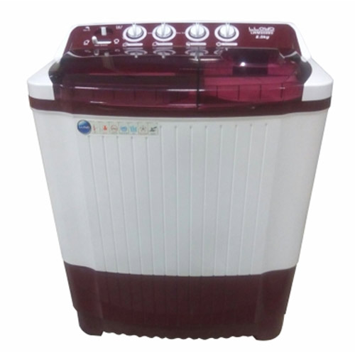 Lloyd LWMS80BD 8 kg Semi Automatic Washing Machine (Burgundy)