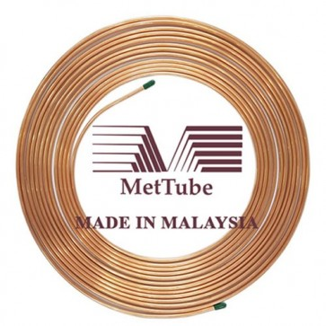 MetTube Malaysia Soft Copper Tube 1/2 inch (13mm) with Insulation