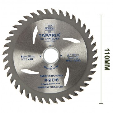 Taparia TCTS 440 110mm Silver Series TCT Wood Cutting Blade (Pack of 10)