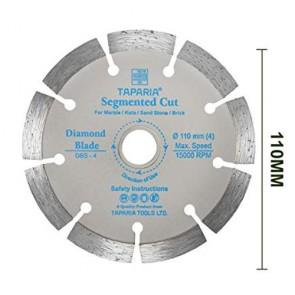 Taparia DBS-4 110mm Segmented Cut Diamond Cutting Blade