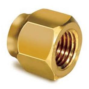 Totaline 1/4 inch Brass 12/piece Flair Nut 50 pcs/box
