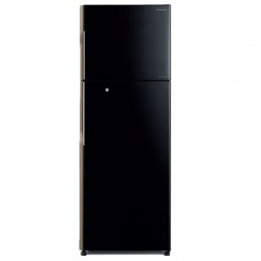 Hitachi R-H350PND4K-PBK 3 Star Inverter Refrigerator 318 L Glass Pure Black
