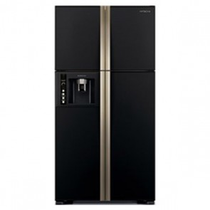 Hitachi R-W660PND7-GBK Inverter Refrigerator 586 L Glass Black - Water Dispenser with Filter (Side by Side 4 Door)