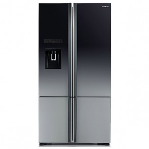 Hitachi R-WB730PND6X - XGR Inverter Refrigerator 647 L Glass Grey - French Bottom Freezer - Water Dispenser with Filter (Side by Side 4 Door)