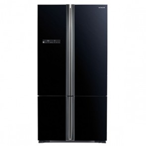 Hitachi R-WB800PND5 - GBK-FBF Inverter Refrigerator 700 L Glass Black - French Bottom Freezer (Side by Side 4 Door)
