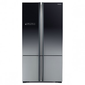 Hitachi R-WB800PND5 - XGR-FBF Inverter Refrigerator 700 L Glass Grey - French Bottom Freezer (Side by Side 4 Door)