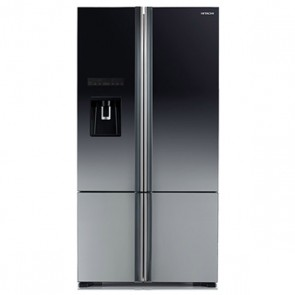 Hitachi R-WB800PND6X - XGR Inverter Refrigerator 697 L Glass Grey - French Bottom Freezer - Water Dispenser (Side by Side 4 Door)