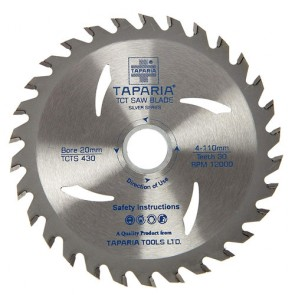 Taparia TCTS430 110mm Silver Series TCT Wood Cutting Blade (Pack of 5)