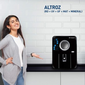 Faber Altroz (RO+UV+UF+MAT+Mineral) 9 Stage 10 liters Mineral Water Purifier (Black)