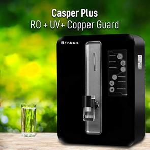 Faber Casper Plus (RO+UV+CU Guard) 7 Stage 10 liters Mineral Water Purifier (Black)