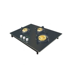 Faber HGG 653 CRR BR EI HT Built-in Gas Hob 65cm 3 Burner (Toughened black glass with Stainless Steel)