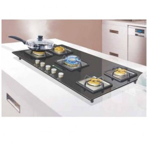 Faber HGG 905 CRS BR CI HT Built-in Gas Hob 90cm 5 Burner (Toughened black glass with Stainless Steel)