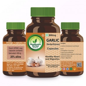 Shudhanta Herbal Garlic Capsule 800mg (60 Capsules)