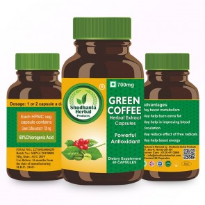 Shudhanta Herbal Green Coffee capsule 700mg (60 Capsules)