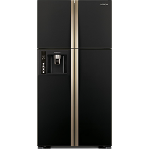 Hitachi R-W720FPND1X-GBK Inverter Refrigerator 637 L Glass Black - Water Dispenser with Filter (Side by Side 4 Door)