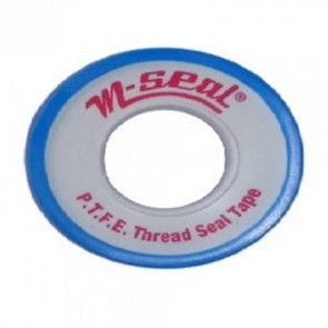 M-Seal 1/2 inch x 10 mtr/roll Milky 10/piece Teflon Tape 100 rolls/box