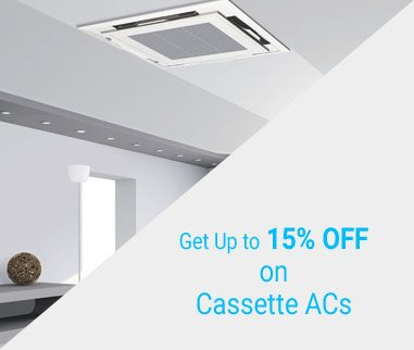 get up to 15% off on cassette ac from alda home appliances